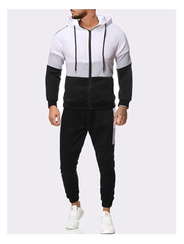 Classic Contrast Color Hooded Activewear Sale