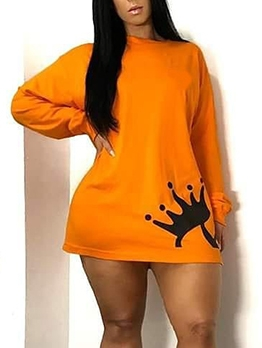 Bright Color Printing Casual Sweatshirts For Women