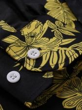 Night Club Print Long Sleeve Shirts