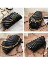 V-Shape Threads Golden Chain Crossbody Bags