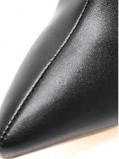 Front Zipper Rivet Booties For Women