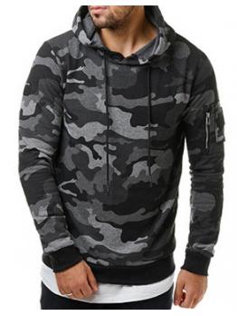 Classic Camouflage Printing Fashion Hoodies