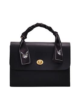 Silk Scarf Handle Wide Belt Vintage Shoulder Bags