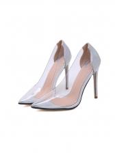 Patchwork Transparent High Heels