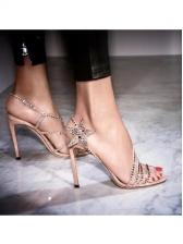 Rhinestone Straps Star Slingback Slip On Sandals
