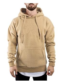 Sporty Solid Men Zip Up Hoodies