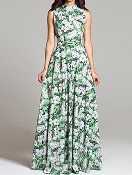 Bohemian Party Sleeveless Maxi Dress