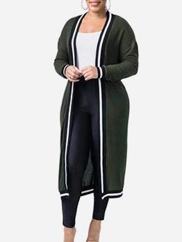 Leisure Mid Calf Length Women Long Coat