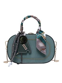 Oval Shape Scarf Decor Vintage Shoulder Bags
