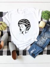Plus Size Image Printing Cotton T Shirt