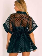 OrganzaPerspective Polka Dots Two Piece Dress Set