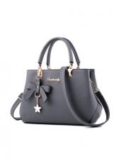 Bowknot Pendant Large Capacity Ladies Handbags