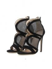 Hollow Out Gauze Stiletto Heels Womens Sandals