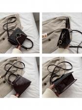 Patent Leather Patchwork Glitter One Shoulder Bag