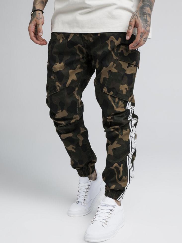 Pockets Casual Camouflage Men Sweatpants