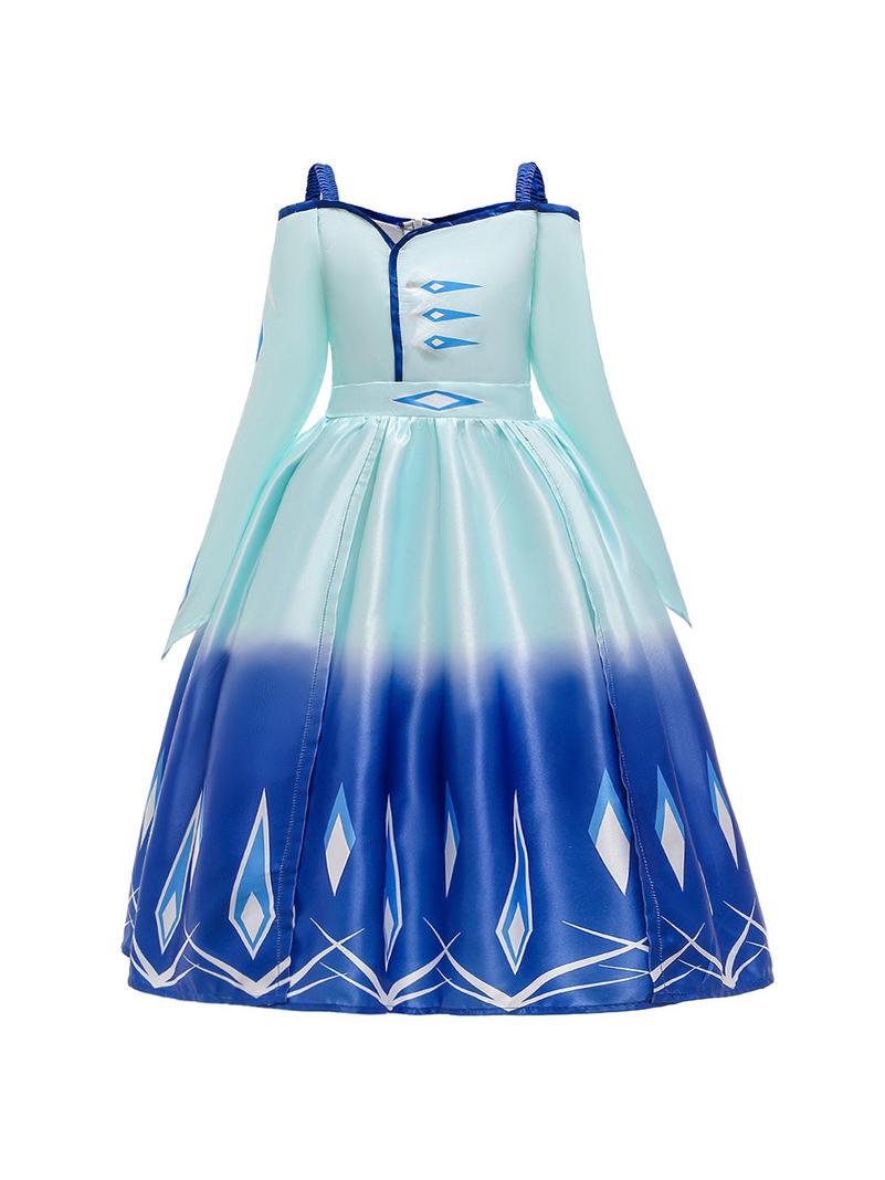 Graduated Color Forzen Elsa Cosplay Evening Dress
