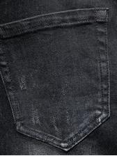 Trendy Skeleton Pattern Letter Skinny Jeans