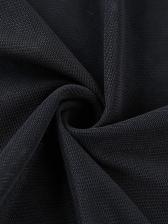 Low V Neck Drawstring Solid Gauze Cropped T Shirt