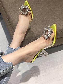 Sunflower Transparent Patchwork Slipper Shoes