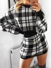 Plaid Cropped 2 Piece Skirt Set