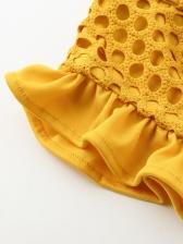 Lace Patchwork Cami Crop Top And Long Skirt Set