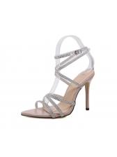 Rhinestone Cross Bandage Sparkly Sandals