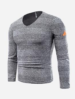 Slim Fit v Neck Sweaters For Men
