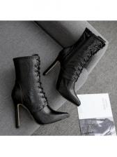 Snake Embossed Front Bandage Boots Sale