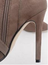 Cross Buckle Strap Suede Fur Boots