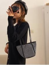 Shiny Rhinestones Women Over The Shoulder Bags