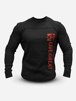 Long Sleeve Letter Printing Crewneck Sweatshirt