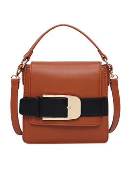 Metal Buckle Splicing Shoulder Bags For Women