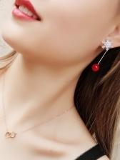 Simple Design Asymmetric Snowflake Earrings For Women