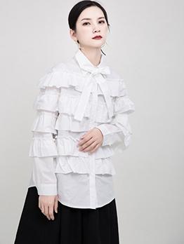 Fashion Layer Women Ruffle Blouse