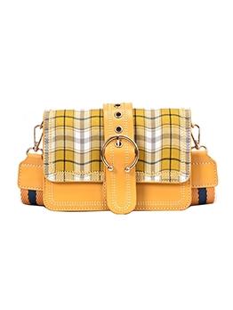 Classic Plaid Striped Wide Belt Shoulder Bags