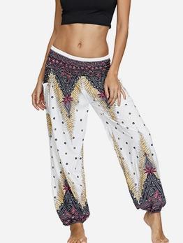 Creative Printed Loose Yoga Pants