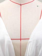 Deep V Neck Lace Lantern Sleeve White Evening Dress