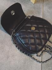 Simple Diamond Pattern Chain Small Shoulder Bag