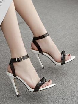 Bow Decor Stiletto Heel Sandal