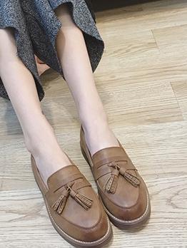 British Style Tassel Womens Flats
