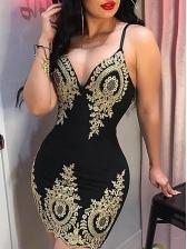 Sexy Slip Print Sleeveless Sheath Dress