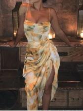 Hot Sale Print Tie-Wrap Sleeveless Sundress