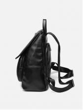 Minimalist Style All Black Backpacks For Women