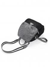Black Sequins Detachable Belt Backpacks For Women