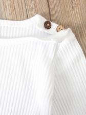 Long Sleeve Romper With Print Pants