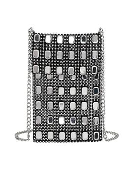 Glitter Beading Rhinestone Mini Crossbody Phone Bags