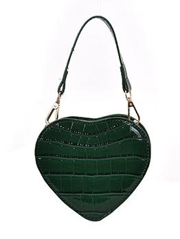 Stone Embossed Love Shape Mini Shoulder Bag