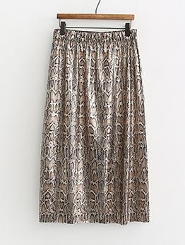 Trendy Snake Print Straight Skirts For Women