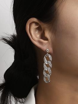 Elegant Rhinestone Long Earrings For Women
