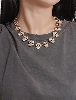 Punk Style Skull Necklace Design